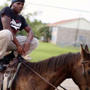 Hale County youth on a horse
